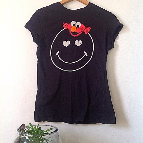 510e810a5 Sesame Street Tops   Smiley Face Elmo Shirt   Poshmark